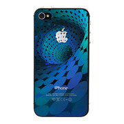 【iPhone4S/4 フィルム】SKY BRIGHT BLUE protector film for iPhone4S/4(spiral holographic)