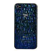 【iPhone4S/4 フィルム】SKY BRIGHT BLUE protector film for iPhone4S/4(bubble holographic)