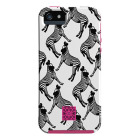【iPhone5s/5 ケース】DESIGNER PRINTS Hybrid Tough Case, All Over Zebra / SHOCKING PINK  (iomoi)