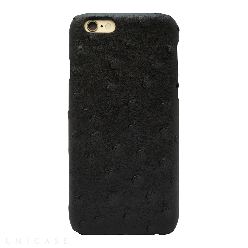 【iPhone6s/6 ケース】OSTRICH PU LEATHER Black for iPhone6s/6