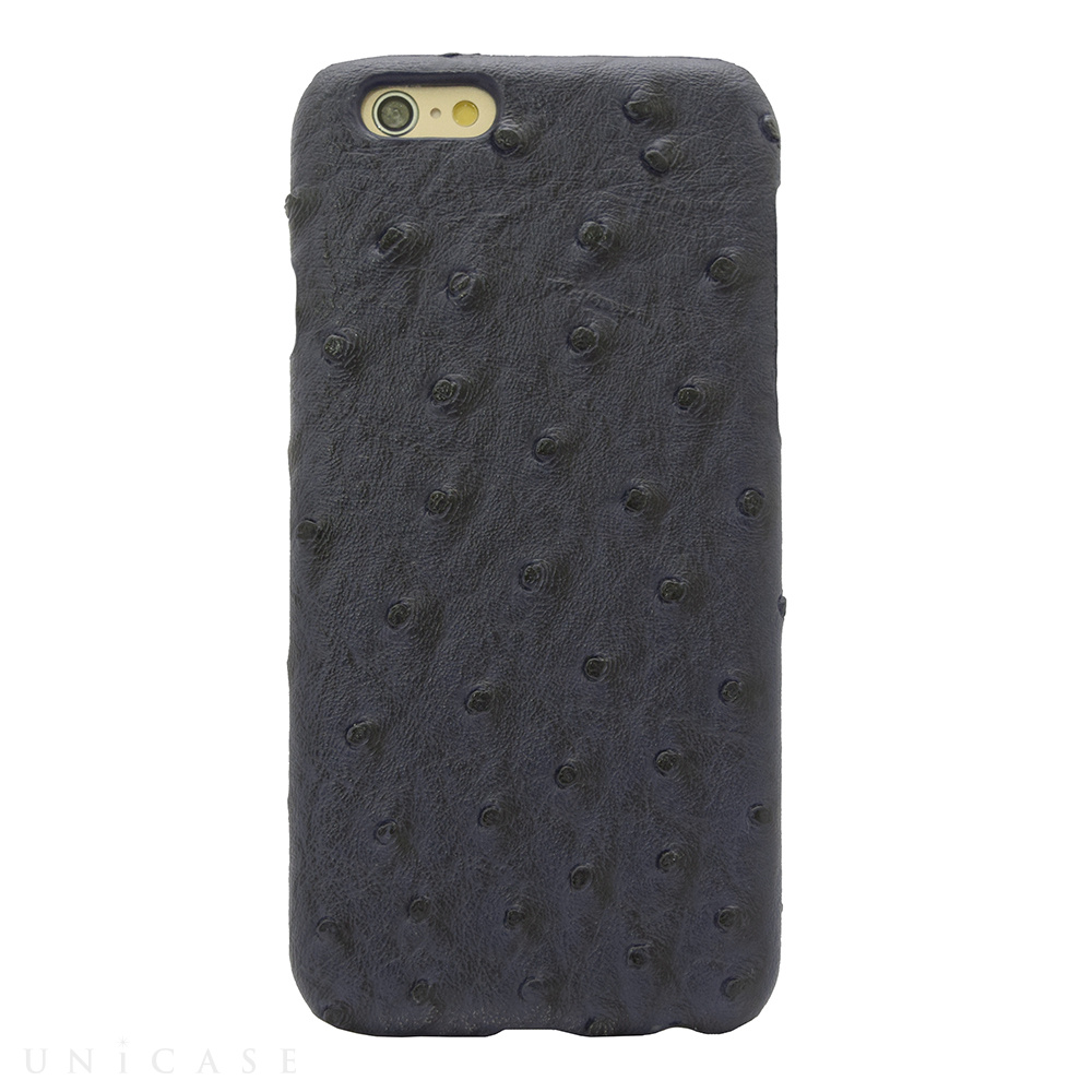 【iPhone6s/6 ケース】OSTRICH PU LEATHER Navy for iPhone6s/6