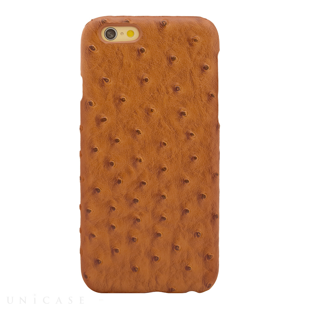 【限定】【iPhone6s/6 ケース】OSTRICH PU LEATHER Camel for iPhone6s/6