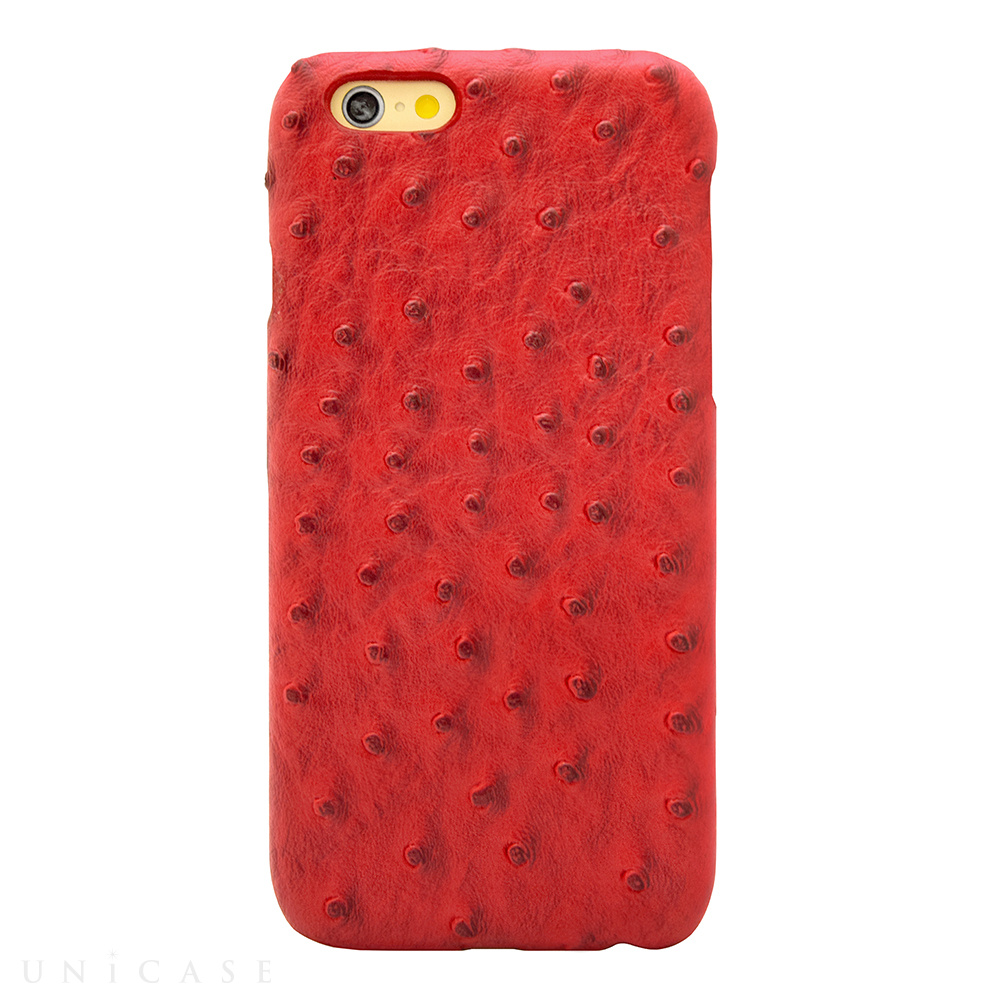 【限定】【iPhone6s/6 ケース】OSTRICH PU LEATHER Red for iPhone6s/6