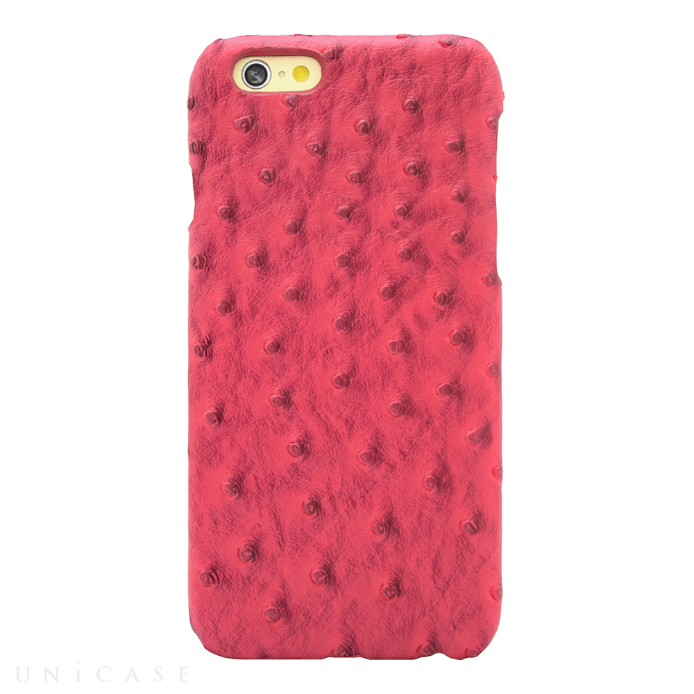 【iPhone6s/6 ケース】OSTRICH PU LEATHER Pink for iPhone6s/6