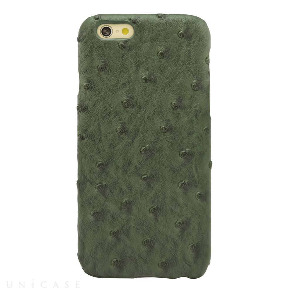 【限定】【iPhone6s/6 ケース】OSTRICH PU LEATHER Darkgreen for iPhone6s/6