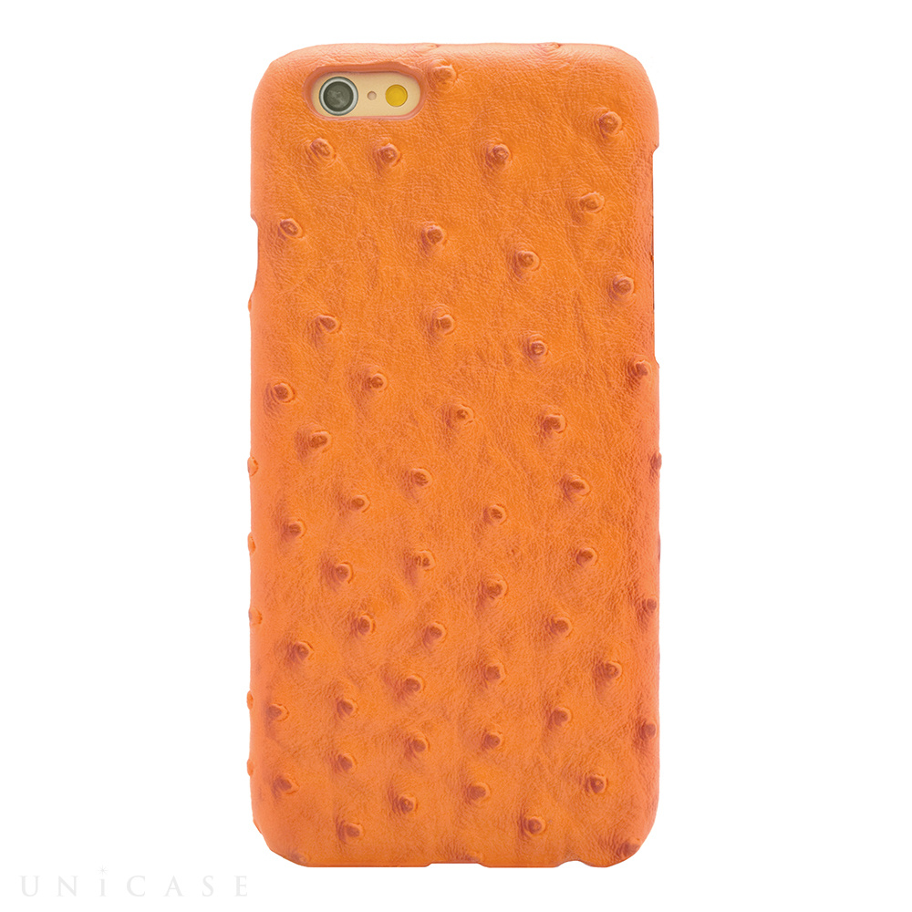 【iPhone6s/6 ケース】OSTRICH PU LEATHER Orange for iPhone6s/6