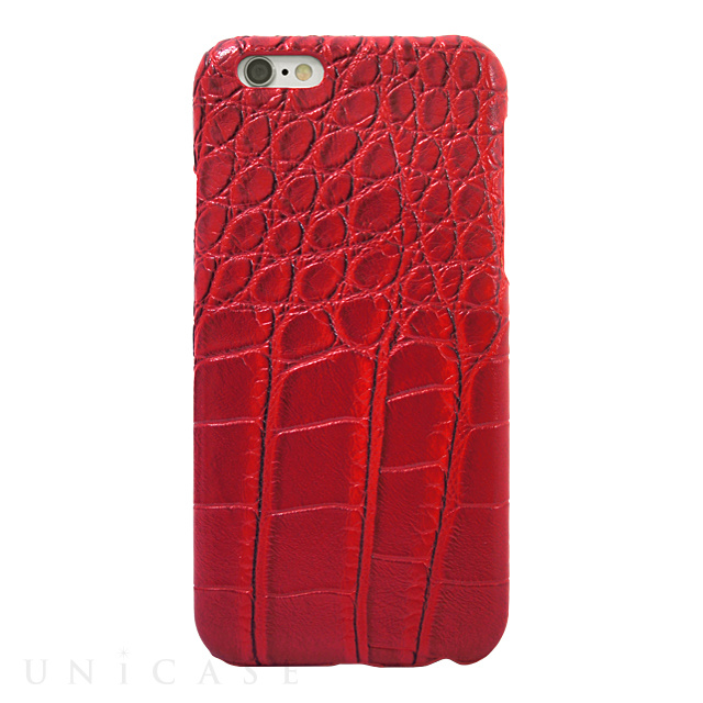 【iPhone6s/6 ケース】CROCODILE PU LEATHER Red for iPhone6s/6