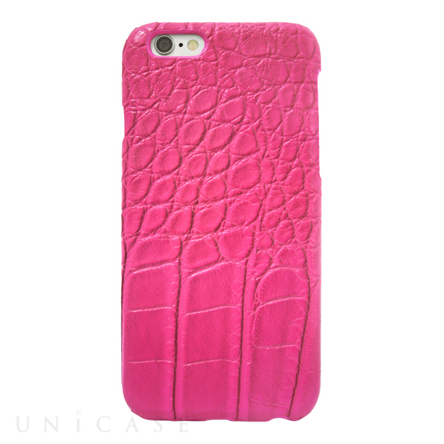 【iPhone6s/6 ケース】CROCODILE PU LEATHER Pink for iPhone6s/6