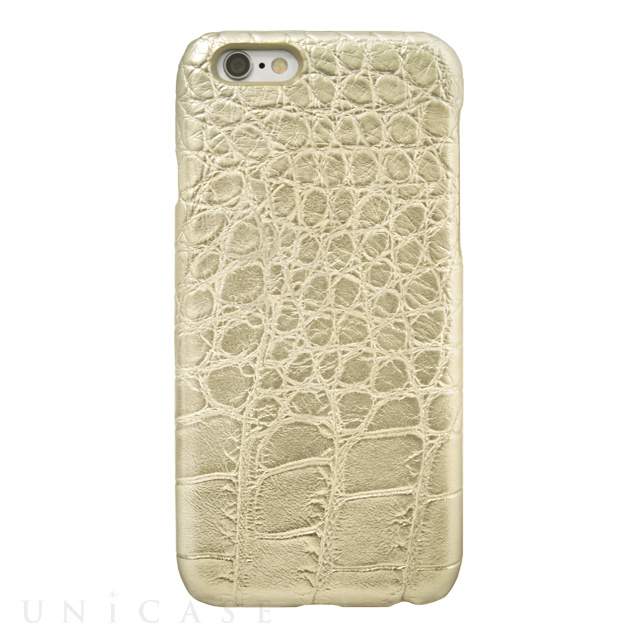 【iPhone6s/6 ケース】CROCODILE PU LEATHER Gold for iPhone6s/6