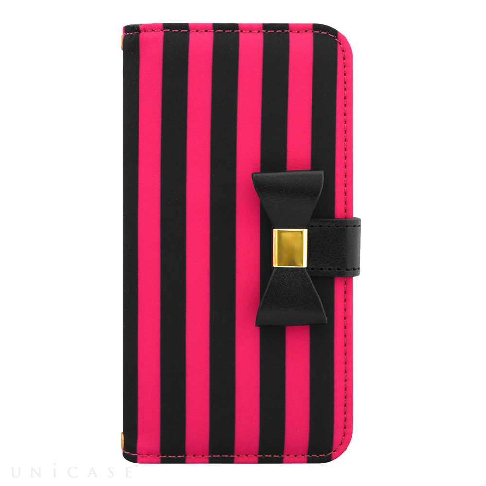 【限定】【iPhone6s/6 ケース】Ribbon Diary Stripe Pink for iPhone6s/6
