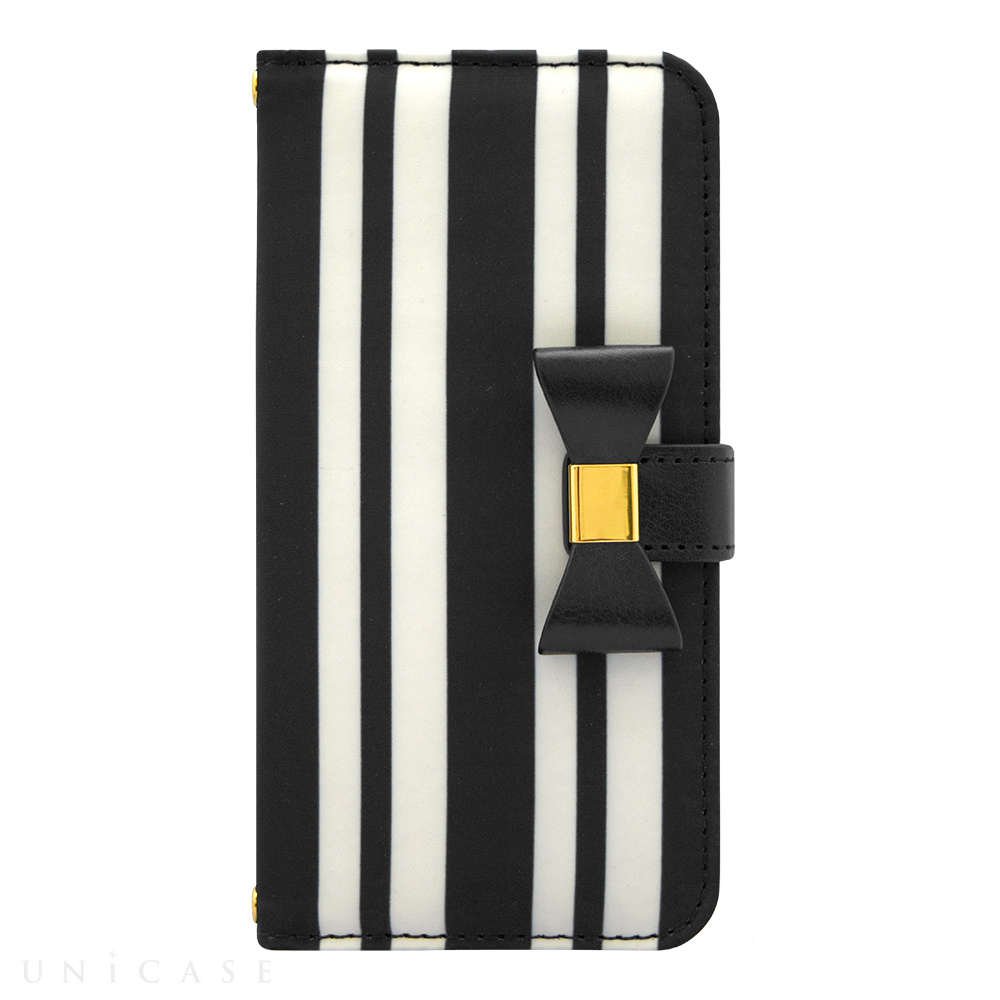 【限定】【iPhone6s/6 ケース】Ribbon Diary Stripe Black for iPhone6s/6