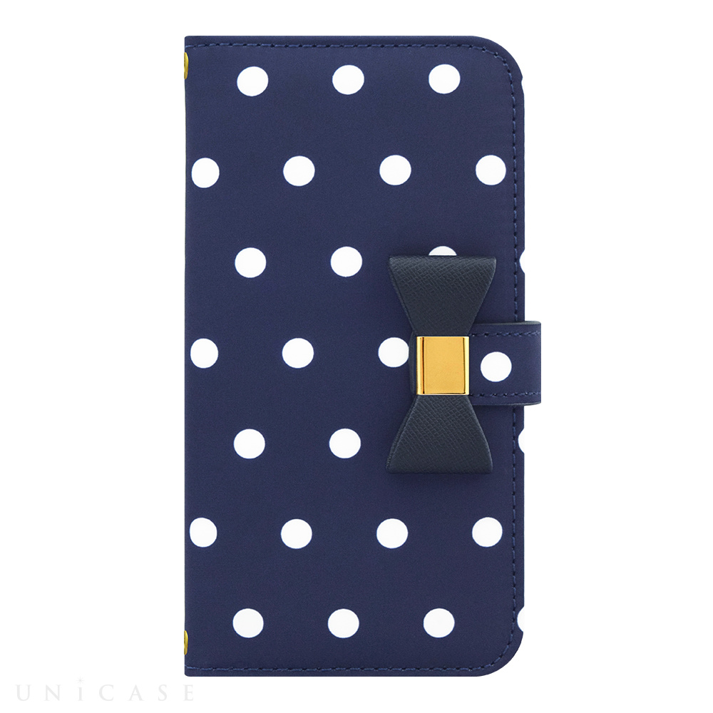 【iPhone6s/6 ケース】Ribbon Diary Dot Navy for iPhone6s/6