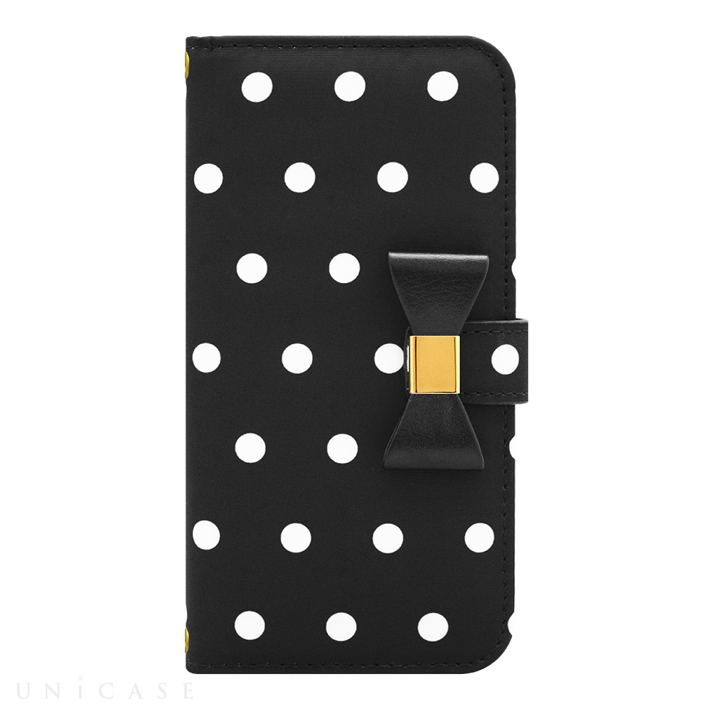 【iPhone6s/6 ケース】Ribbon Diary Dot Black for iPhone6s/6