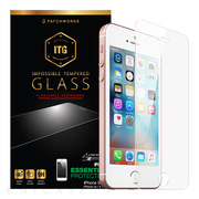 【iPhoneSE(第1世代)/5s/5c/5 フィルム】ITG Plus - Impossible Tempered Glass