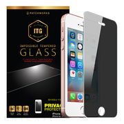 【iPhoneSE(第1世代)/5s/5c/5 フィルム】ITG Privacy - Impossible Tempered Glass
