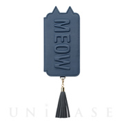 【iPhoneXR ケース】Tassel Tail Cat for iPhoneXR (Navy)