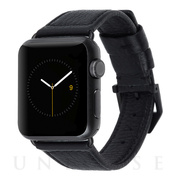 【AppleWatch SE/Series6/5/4/3/2/1(40/38mm) ケース】Apple Watchband Black Pebbled Leather