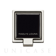 Square Smart Phone Ring (Silver Black)