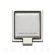 Square Smart Phone Ring (Silver Silver)