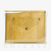 PVC LAPTOP CLUTCH (13) (CANARY)