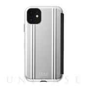 【iPhone11/XR ケース】ZERO HALLIBURTON Hybrid Shockproof Flip case for iPhone11 (Silver)