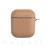 【AirPods ケース】AirPods Case(beige leather)