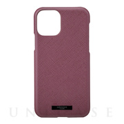 "【iPhone11 Pro ケース】""EURO Passione"" PU Leather Shell Case (Wine)"