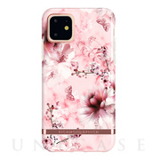 【iPhone11 ケース】Pink Marble Floral - Rose gold details