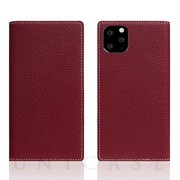 【iPhone11 Pro ケース】Full Grain Leather Case (Burgundy Rose)