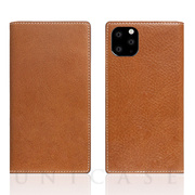 【iPhone11 Pro ケース】Tamponata Leather case (Tan)