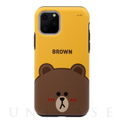 【iPhone11 Pro ケース】DUAL GUARD FACE (BROWN)