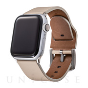 【AppleWatch SE/Series6/5/4/3/2/1(40/38mm) バンド】Italian Genuine Leather Watchband (Ivory)