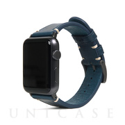 【AppleWatch Series5/4/3/2/1(40/38mm) バンド】Italian Buttero Leather (ブルー)