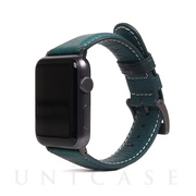 【AppleWatch Series5/4/3/2/1(40/38mm) バンド】Italian Minerva Box Leather (ブルー)