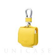 "【AirPods ケース】""EURO Passione"" PU Leather Case (Lemon)"