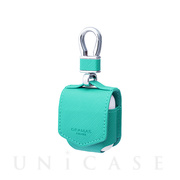 "【AirPods ケース】""EURO Passione"" PU Leather Case (Turquoise)"