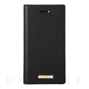 "【iPhoneSE(第2世代)/8/7/6s/6 ケース】""Shrink"" PU Leather Book Case (Black)"