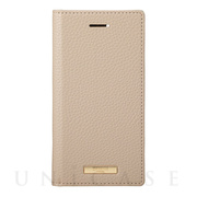 "【iPhoneSE(第2世代)/8/7/6s/6 ケース】""Shrink"" PU Leather Book Case (Greige)"