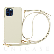 【iPhone12/12 Pro ケース】Cross Body Case for iPhone12/12 Pro (ivory)