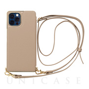 【iPhone12/12 Pro ケース】Cross Body Case for iPhone12/12 Pro (beige)