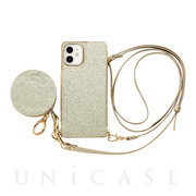 【iPhone12 mini ケース】Cross Body Case Glitter Series for iPhone12 mini (prism gold)