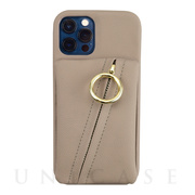 【iPhone12/12 Pro ケース】Clutch Ring Case for iPhone12/12 Pro (beige)