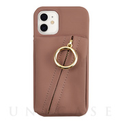 【iPhone12 mini ケース】Clutch Ring Case for iPhone12 mini (gray pink)