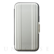 【iPhone12 mini ケース】ZERO HALLIBURTON Hybrid Shockproof Flip Case for iPhone12 mini (Silver)