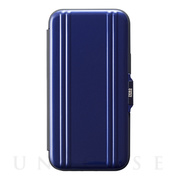 【iPhone12 mini ケース】ZERO HALLIBURTON Hybrid Shockproof Flip Case for iPhone12 mini (Blue)