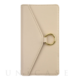 【iPhone12/12 Pro ケース】Letter Ring Flipcase for iPhone12/12 Pro (beige)