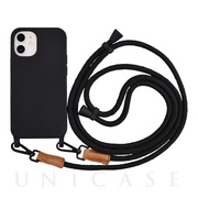 【iPhone12 mini ケース】Shoulder Strap Case for iPhone12 mini (black)