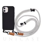 【iPhone12 mini ケース】Shoulder Strap Case for iPhone12 mini (gray)