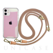 【iPhone12 mini ケース】Shoulder Strap Case for iPhone12 mini (greige)