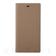 【iPhone12 Pro Max ケース】Shrunken-Calf Leather Book Case (Taupe)